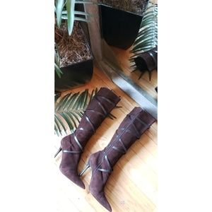 Aldo knee length Berneron boots in brown size 10